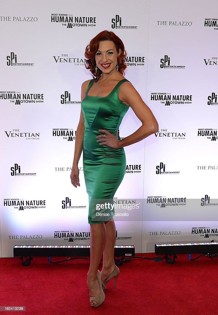 Tara Palsha arrives at 'Smokey Robinson Presents Human Nature: The Motown Show' opening at The Venetian Resort Hotel Casino on February 22, 2013 in Las Vegas, Nevada.