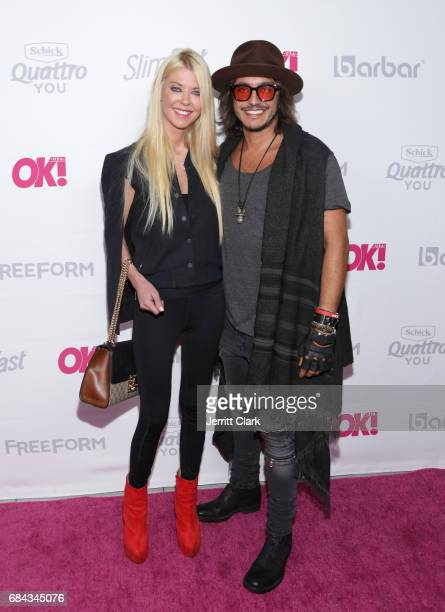 Tara Reid and Jonathan Loubens attends OK Magazine's Summer KickOff Party at W Hollywood on May 17 2017 in Hollywood California