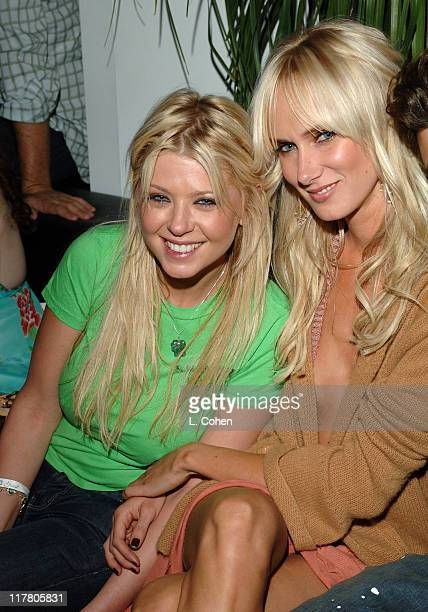 Tara Reid and Kimberly Stewart during Maxim Magazine's Hot 100 Inside at The Day After in Hollywood California United States