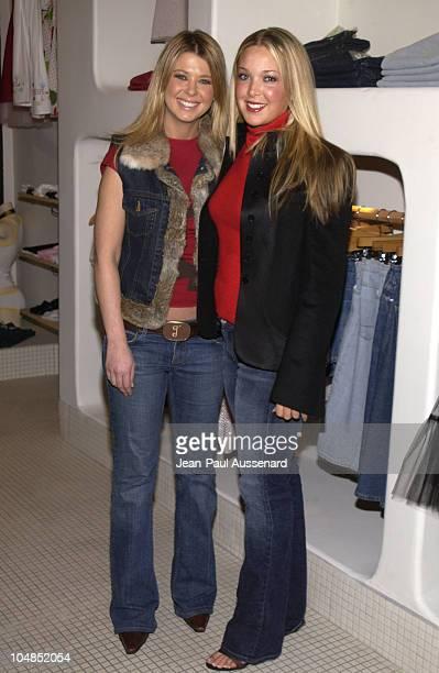 Tara Reid andColeen Reid during Patrick Reid Store Opening at Patrick Reid Store in Santa Monica California United States