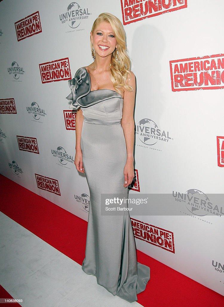 Tara Reid arrives at the Australian premiere of 'American Pie: Reunion' on March 7, 2012 in Melbourne, Australia.
