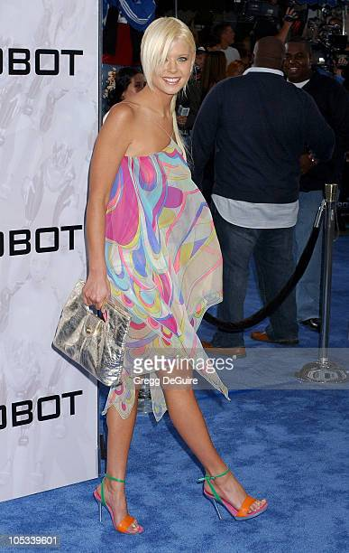 Tara Reid during 'I ROBOT' World Premiere Arrivals at Mann Village Theatre in Westwood California United States