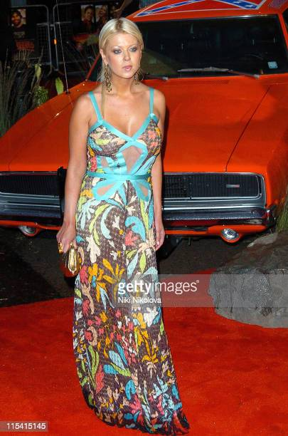 Tara Reid during 'The Dukes of Hazzard' London Premiere Arrivals at Vue Leicester Square in London Great Britain