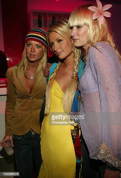 Tara Reid Paris Hilton and Kimberly Stewart during GM Rocks Award Season With Cars Stars and Fashion Arrivals and Inside at Sunset and Vine in...