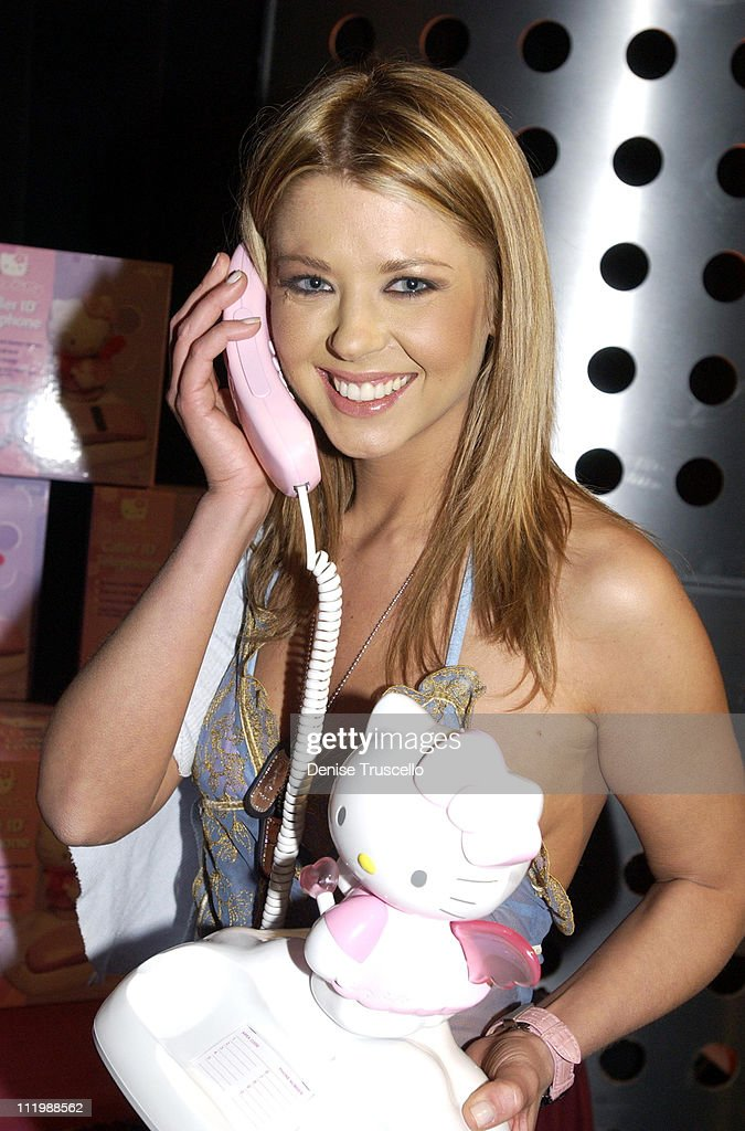 Tara Reid with Hello Kitty phone during 2002 Billboard Music Awards - Backstage Creations Talent Retreat - Show Day at MGM Grand Hotel in Las Vegas, Nevada, United States.