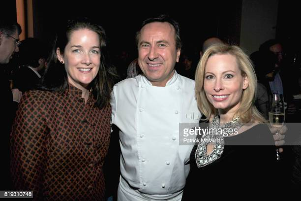 Tara Rockefeller Daniel Boulud and Gillian Miniter attend 'BURGUNDY BORDEAUX BLUE JEANS BLUES' A Casual Sunday Supper at DANIEL for the benefit of...
