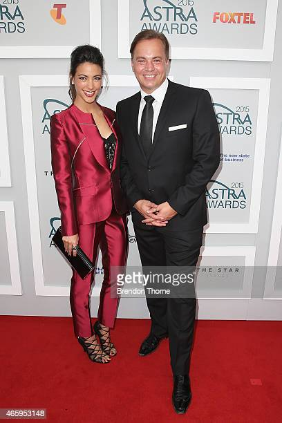 Tara Rushton and Mark Bosnich arrive at the 2015 ASTRA Awards at the Star on March 12 2015 in Sydney Australia