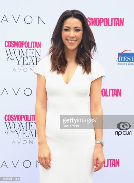 Tara Rushton arrives ahead of the 11th Annual Cosmopolitan Women of the Year Awards on October 26 2017 in Sydney Australia