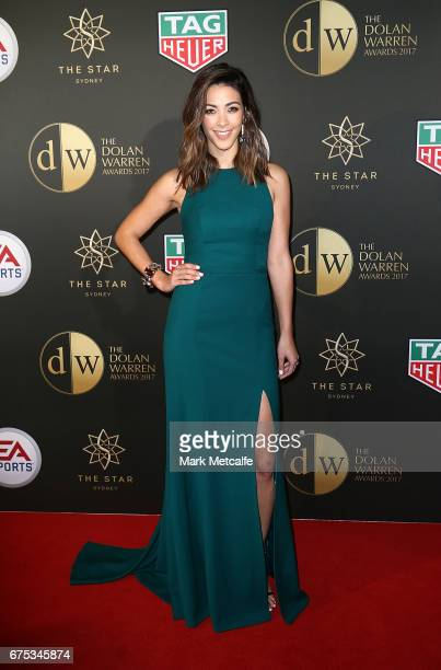 Tara Rushton arrives ahead of the FFA Dolan Warren Awards at The Star on May 1 2017 in Sydney Australia