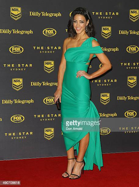 Tara Rushton arrives at the 20145 Dally M Awards at Star City on September 28 2015 in Sydney Australia