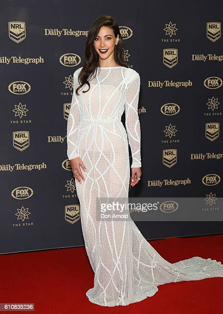 Tara Rushton arrives at the 2016 Dally M Awards at Star City on September 28 2016 in Sydney Australia
