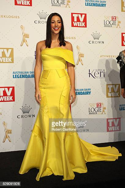 Tara Rushton arrives at the 58th Annual Logie Awards at Crown Palladium on May 8 2016 in Melbourne Australia