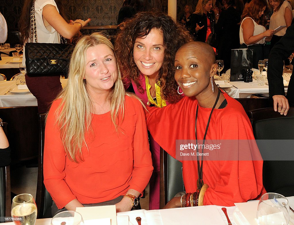 Tara Smith (C) attends the launch of Cash & Rocket, in aid of the (Red) Rush to Zero campaign, at Banca Restaurant on April 29, 2013 in London, England.
