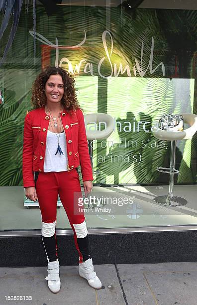 Tara Smith poses during a photocall to launch Tara smith Vegan Haircare at Marks Spencer Marble Arch on September 27 2012 in London England