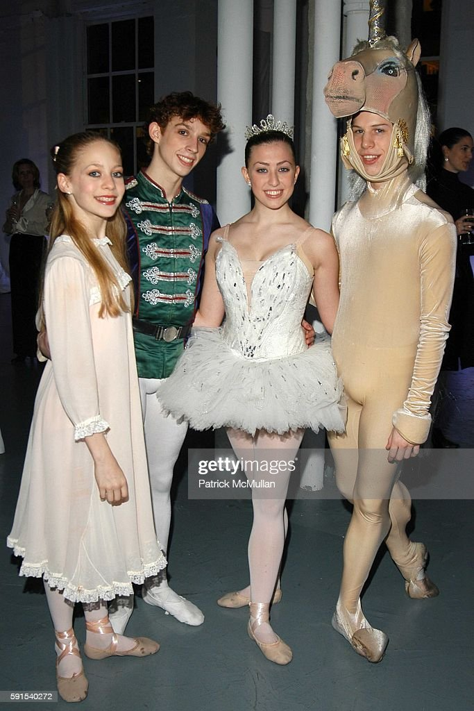 Tara Sorene Andrew Daly Lara Clemmings and Tyler Galster attend SAKS FIFTH AVENUE Snowflake Spectacular Holiday Window Unveiling at Saks Fifth Avenue...