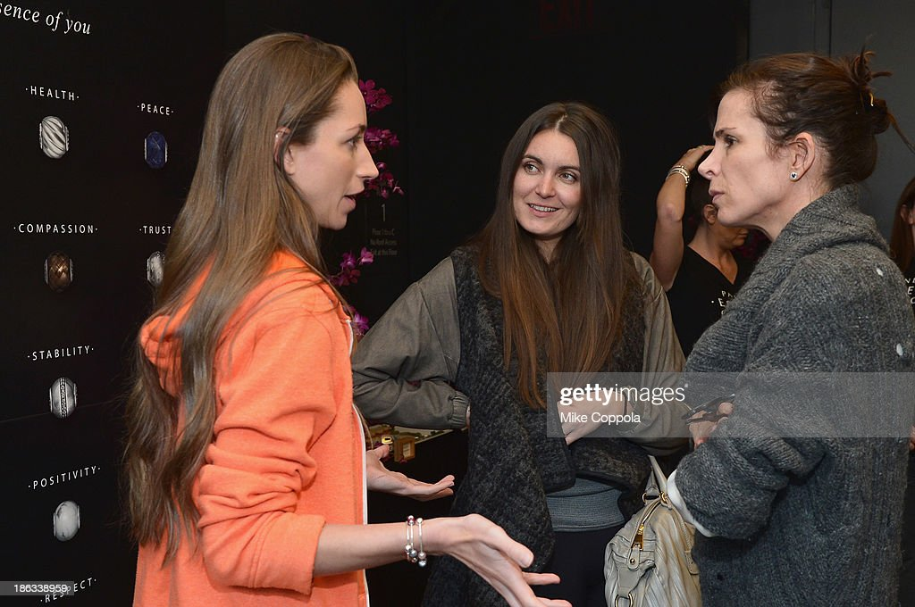 Tara Stiles, Bianca Nesgaard, and Cristina Ehrlich attend the Pandora Essence Collection Media Launch at The James New York on October 30, 2013 in New York City.