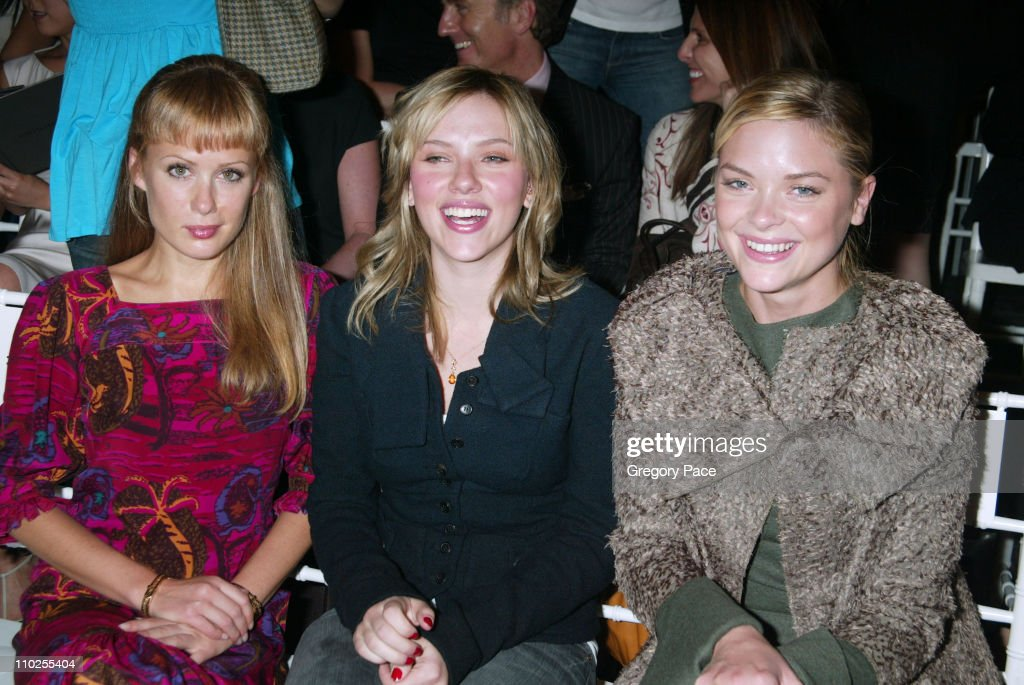 Tara Subkoff, Scarlett Johansson and Jaime King during Olympus Fashion Week Spring 2006 - Roland Mouret - Sponsored by Motorola - Front Row and Backstage at Skylight Studios in New York City, New York, United States.