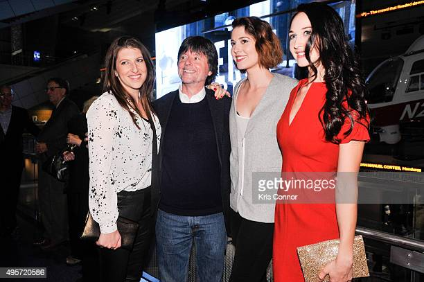 Tara Summers Ken Burns Mary Elizabeth Winstead and Hannah James attend the DC premiere of PBS's 'Mercy Street' at the The Newseum in Washington DC on...