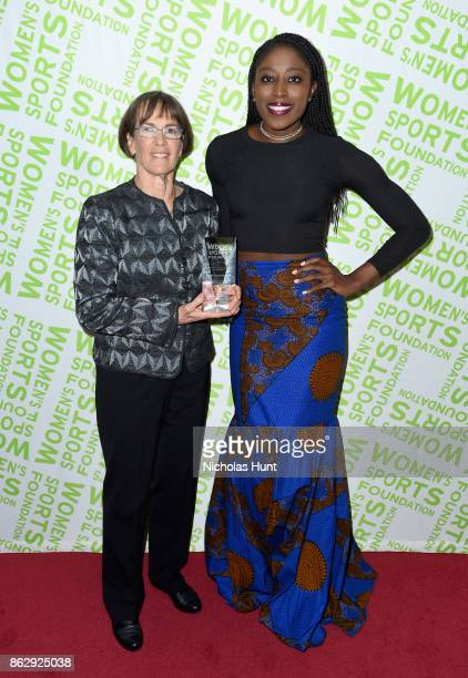 Tara VanDerveer and Chiney Ogwumike attend The Women's Sports Foundation's 38th Annual Salute To Women in Sports Awards Gala on October 18 2017 in...