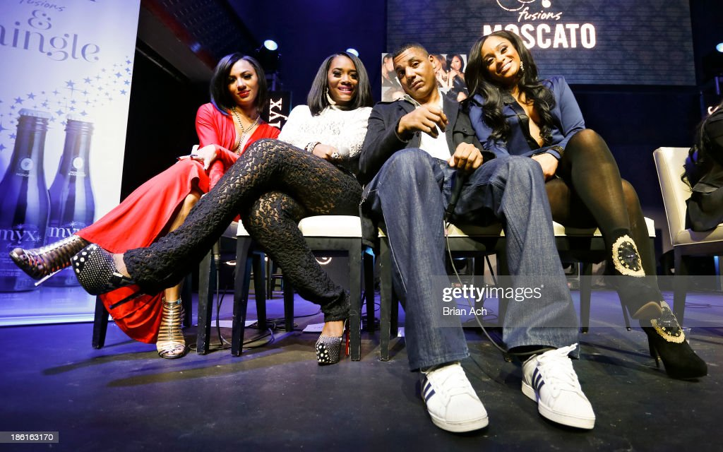 Tara Wallace, Yandy Smith, Rich Dollaz, and <a gi-track='captionPersonalityLinkClicked' href=/galleries/search?phrase=Tahiry&family=editorial&specificpeople=6490872 ng-click='$event.stopPropagation()'>Tahiry</a> appear at the VH1 'Love & Hip Hop' Season 4 Premiere at Stage 48 on October 28, 2013 in New York City.