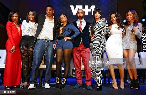Tara Wallace Yandy Smith Rich Dollaz Tahiry Joe Budden Erica Mena Cyn Santana and Amina Buddafly appear at the VH1 'Love Hip Hop' Season 4 Premiere...