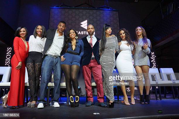 Tara Wallace Yandy Smith Rich Dollaz Tahiry Jose Joe Budden Erica Mena Cyn Santana and Amina Buddafly attend the 'Love And Hip Hop' Season 4 Launch...