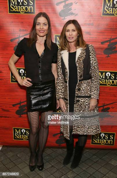 Tara Westwood and Carole Radziwill attend The Opening Night of the New Broadway Production of 'Miss Saigon' at the Broadway Theatre on March 23 2017...