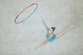 Tara Wilkie of Australia competes in Rhythmic Gymnastics Individual AllAround Qualification on day ten of the Nanjing 2014 Summer Youth Olympic Games...