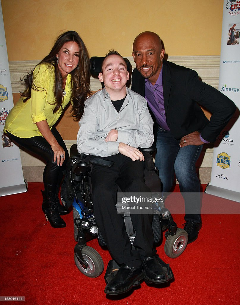 Tara Williams, 'All in for CP ' founder Jacob Zalewski and TV personality Montell Williams attend the 5th Annual 'All in for CP' Celebrity Poker tournament at the Venetian Hotel and Casino Resort on December 8, 2012 in Las Vegas, Nevada.