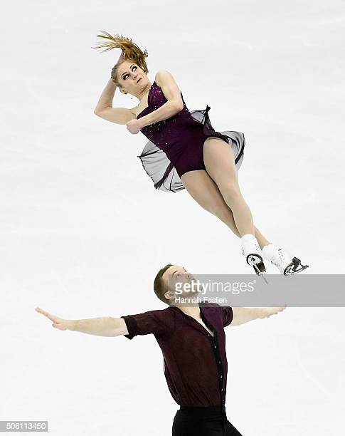 Tarah Kayne and Danny O'Shea compete in the Pairs Short Program at the 2016 Prudential US Figure Skating Championship on January 21 2016 at Xcel...
