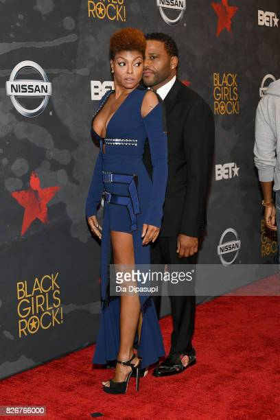 Taraji P Henson and Anthony Anderson attend Black Girls Rock 2017 at NJPAC on August 5 2017 in Newark New Jersey