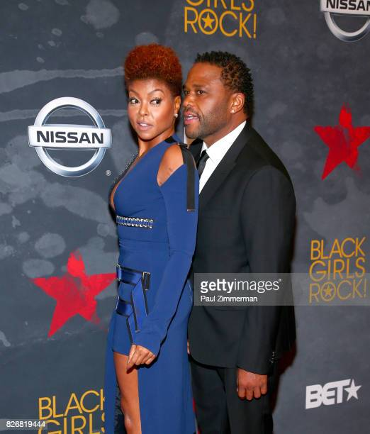 Taraji P Henson and Anthony Anderson attend the 2017 Black Girls Rock at New Jersey Performing Arts Center on August 5 2017 in Newark New Jersey