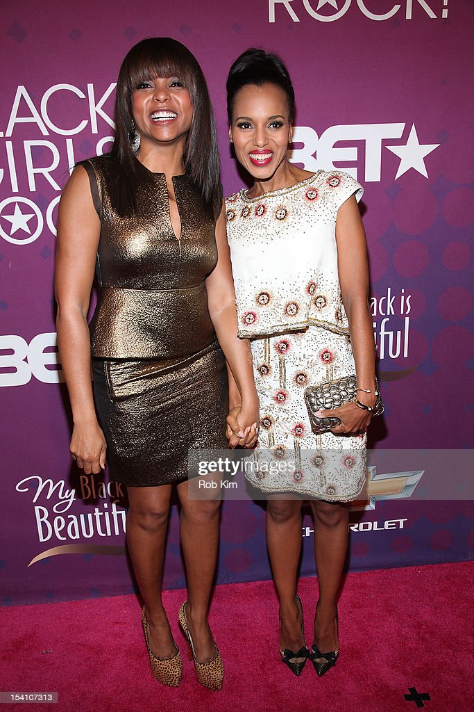 <a gi-track='captionPersonalityLinkClicked' href=/galleries/search?phrase=Taraji+P.+Henson&family=editorial&specificpeople=208823 ng-click='$event.stopPropagation()'>Taraji P. Henson</a> (L) and <a gi-track='captionPersonalityLinkClicked' href=/galleries/search?phrase=Kerry+Washington&family=editorial&specificpeople=201534 ng-click='$event.stopPropagation()'>Kerry Washington</a> attend Black Girls Rock! 2012 at the Paradise Theater on October 13, 2012 in the Bronx borough of New York City.