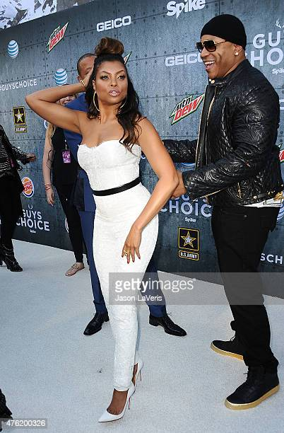 Taraji P Henson and LL Cool J attend Spike TV's 'Guys Choice 2015' at Sony Pictures Studios on June 6 2015 in Culver City California