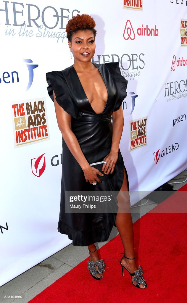 Taraji P. Henson arrives at the 16th Annual Heroes In The Struggle gala reception and awards presentation at 20th Century Fox on September 16, 2017 in Los Angeles, California.