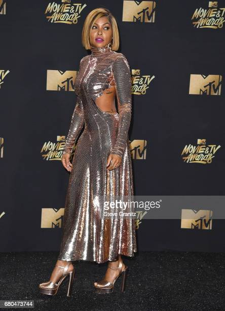 Taraji P Henson arrives at the 2017 MTV Movie And TV Awards at The Shrine Auditorium on May 7 2017 in Los Angeles California
