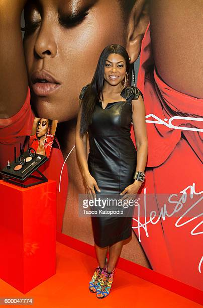 Taraji P Henson at MAC Michigan Avenue on September 7 2016 in Chicago Illinois
