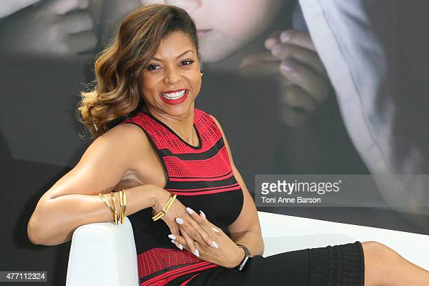 Taraji P Henson attends a photocall for the 'Empire' TV series during the 55th Monte Carlo TV Festival on June 14 2015 in MonteCarlo Monaco
