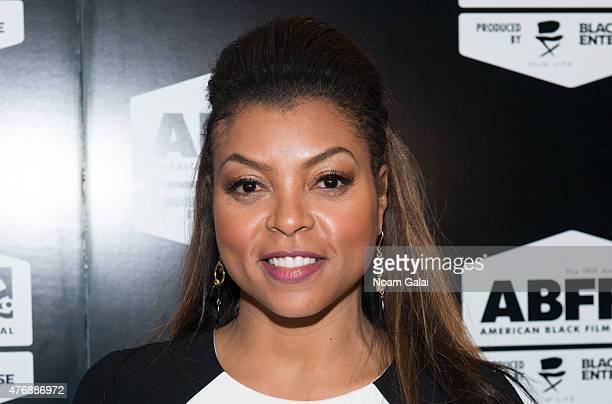Taraji P Henson attends the 2015 American Black Film Festival at New York Hilton Grand Ballroom on June 12 2015 in New York City