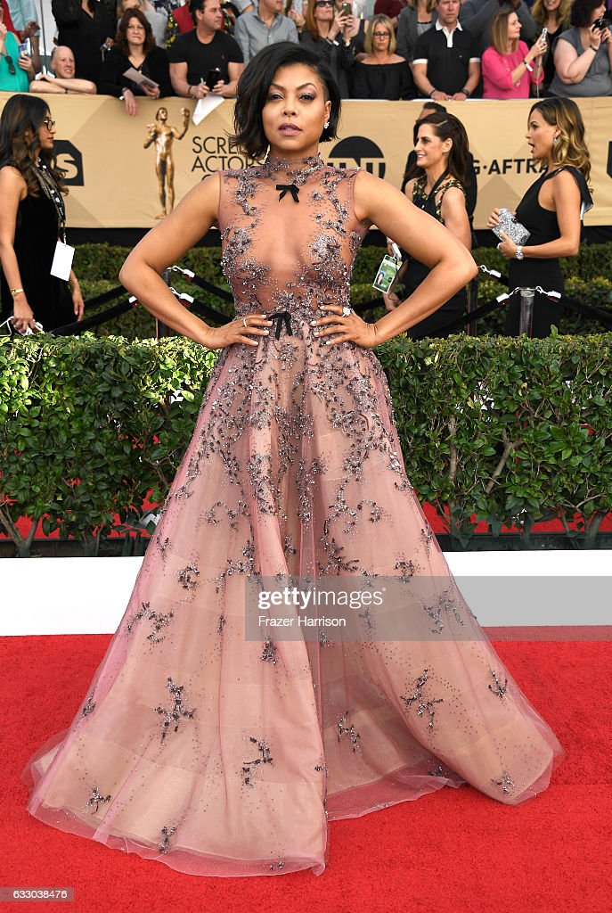 Taraji P. Henson attends The 23rd Annual Screen Actors Guild Awards at The Shrine Auditorium on January 29, 2017 in Los Angeles, California. 26592_008