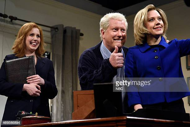 LIVE 'Taraji P Henson' Episode 1680 Pictured Vanessa Bayer Darrell Hammond as Bill Clinton and Kate McKinnon as Hillary Clinton during the ' Hillary...