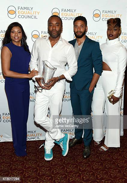Taraji P Henson Lee Daniels Jussie Smollett and Ta'Rhonda Jones attend the Family Equality Council's 2015 Night At The Pier at Pier 60 on May 11 2015...