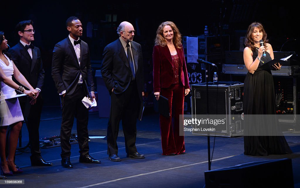 Taraji P. Henson, Matt Bomer, Marlon Wayans, Richard Schiff, and Melissa Leo speak onstage with CEO of The Creative Coalition Robin Bronk at The Creative Coalition's 2013 Inaugural Ball at the Harman Center for the Arts on January 21, 2013 in Washington, United States.
