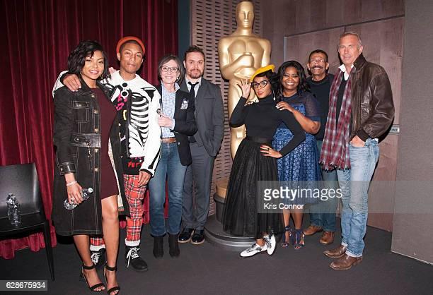 Taraji P Henson Pharrell Williams Ted Melfi Patrick Harrison Janelle Monae Octavia Spencer Wynn Thomas and Kevin Costner attend an official academy...