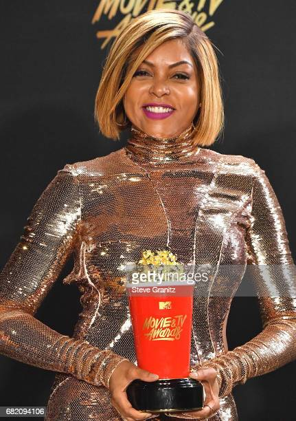 Taraji P Henson pose at the 2017 MTV Movie And TV Awards at The Shrine Auditorium on May 7 2017 in Los Angeles California