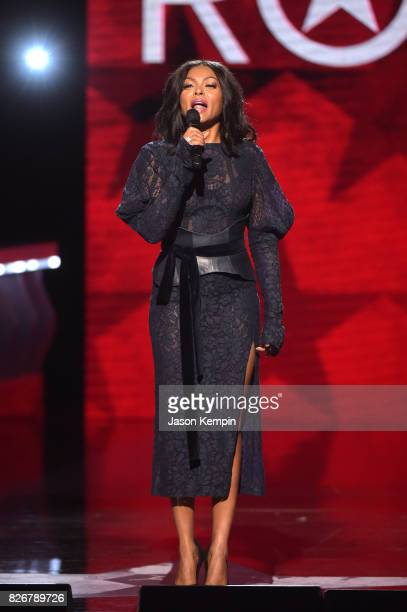 Taraji P Henson presents onstage at Black Girls Rock 2017 at NJPAC on August 5 2017 in Newark New Jersey
