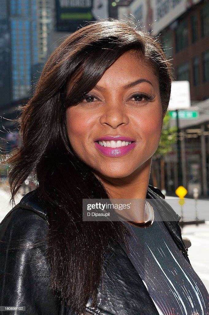<a gi-track='captionPersonalityLinkClicked' href=/galleries/search?phrase=Taraji+P.+Henson&family=editorial&specificpeople=208823 ng-click='$event.stopPropagation()'>Taraji P. Henson</a> visits 'Extra' in Times Square on September 17, 2013 in New York City.