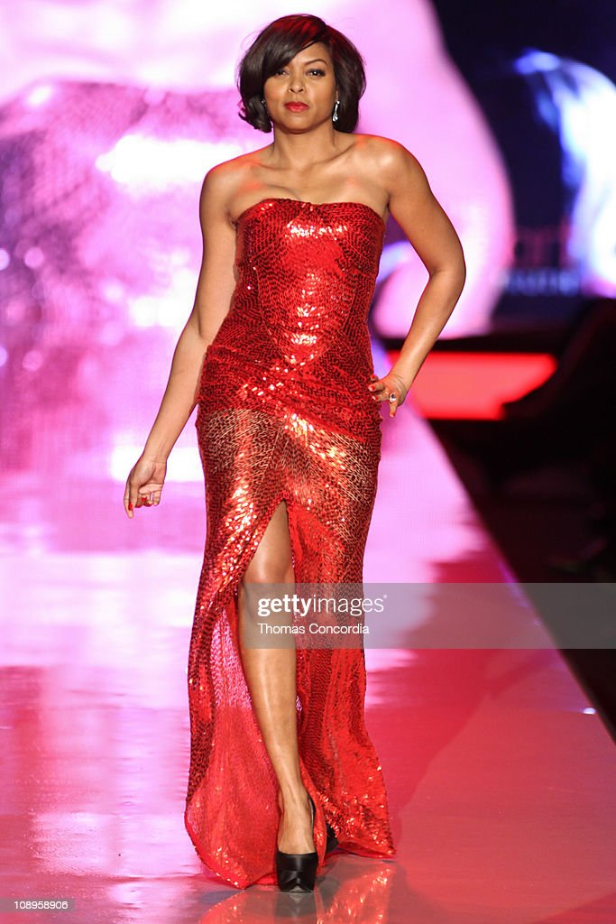 Taraji P. Henson wearing Naeem Khan at the The Heart Truth's Red Dress Collection fashion show during Mercedes-Benz Fashion Week Fall 2011 at Lincoln Center on February 9, 2011 in New York City.