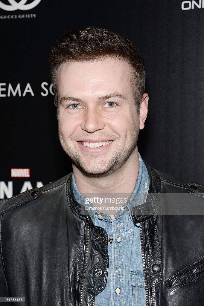 <a gi-track='captionPersonalityLinkClicked' href=/galleries/search?phrase=Taran+Killam&family=editorial&specificpeople=3798325 ng-click='$event.stopPropagation()'>Taran Killam</a> attends The Cinema Society & Gucci Guilty screening of Marvel's 'Captain America: The Winter Soldier' at Tribeca Grand Hotel on March 31, 2014 in New York City.