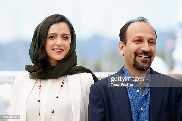 Taraneh Alidoosti and director Ashgar Farhadi attend 'The Salesman ' Photocall during the 69th annual Cannes Film Festival at the Palais des...